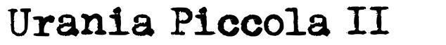 Urania Piccola II font