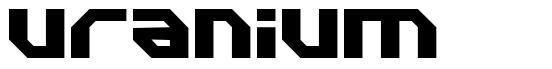 Uranium font