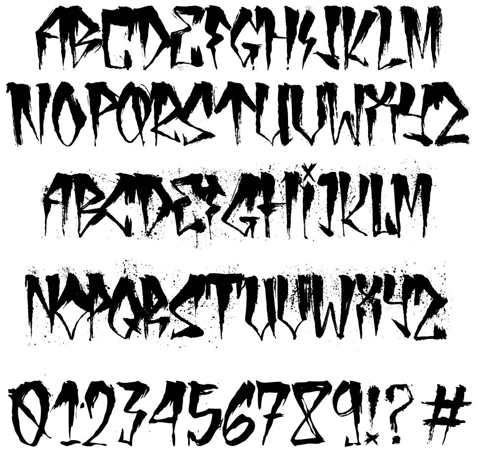 Urban Decay Font By Zofos
