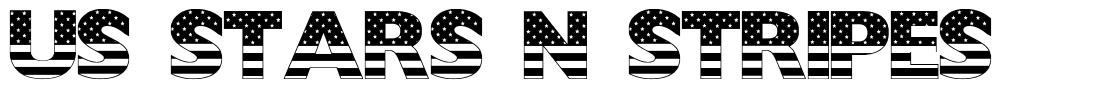 US Stars N Stripes font