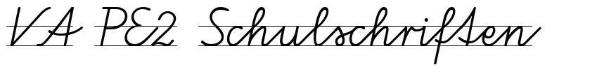 VA PE2 Schulschriften font