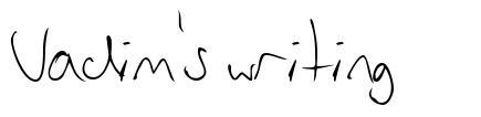 Vadim's writing schriftart