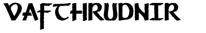 Vafthrudnir font