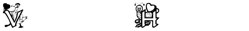 Valentine Hearts 字形