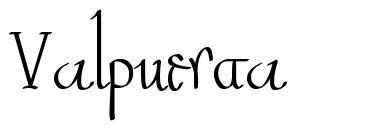 Valpuesta font