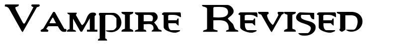 Vampire Revised font