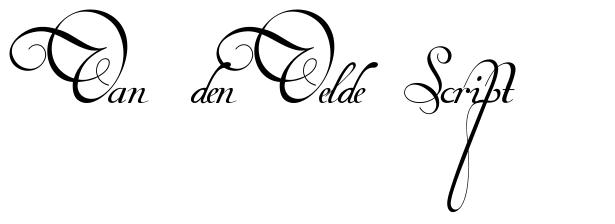 Van den Velde Script font