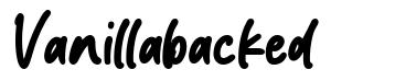 Vanillabacked 字形