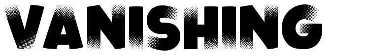 Vanishing font