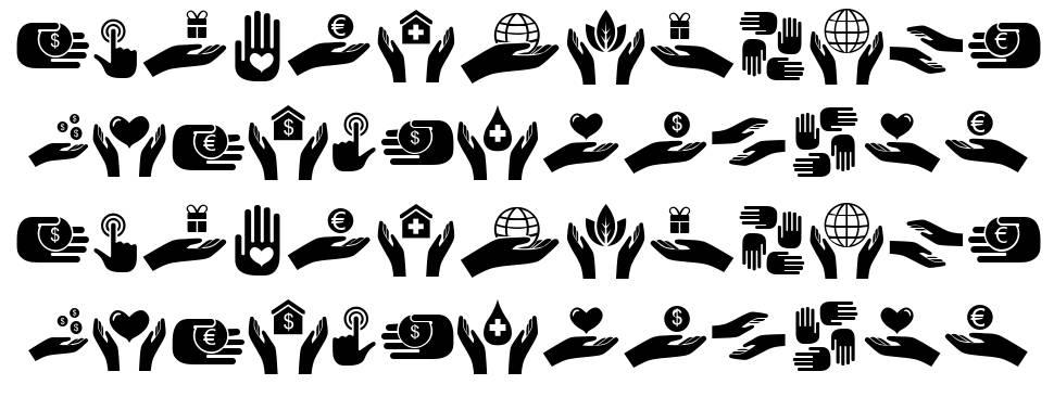 Various Hands font