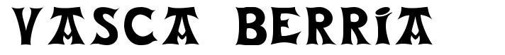 Vasca Berria font