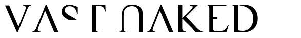 VAST Naked font