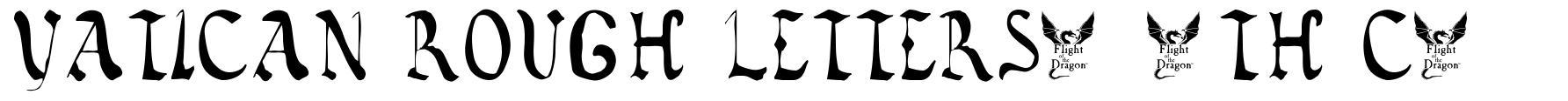 Vatican Rough Letters, 8th c. font