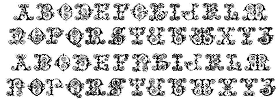 Vaticanian Initials font