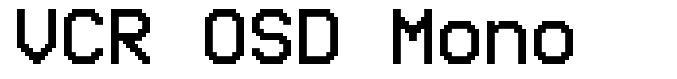 VCR OSD Mono шрифт