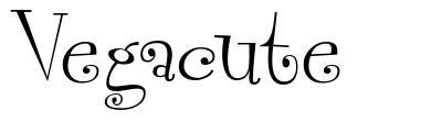 Vegacute font