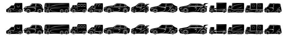 Vehicles font
