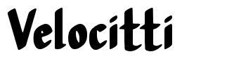 Velocitti font