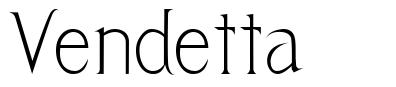 Vendetta font