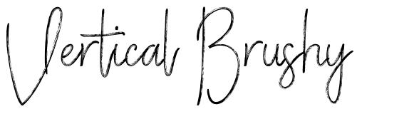 Vertical Brushy font