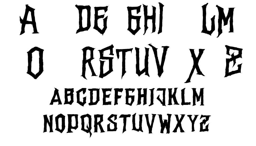 Vertigo Death フォント