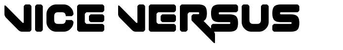 Vice Versus font