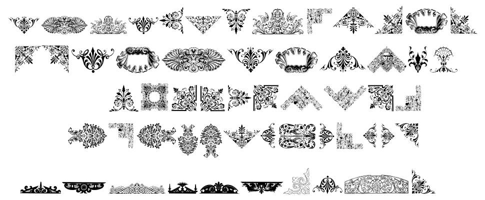 Victorian Free Ornaments font by Intellecta Design - FontRiver