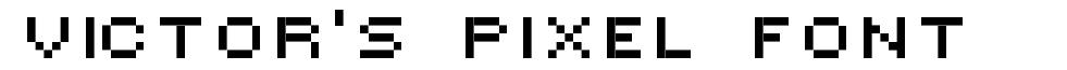 Victor's Pixel Font