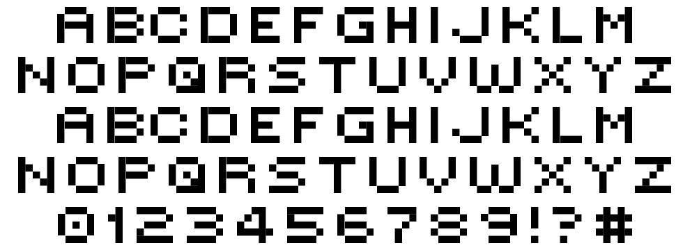 Inspiration for the Bitmap Font I will be creating as part of my ...