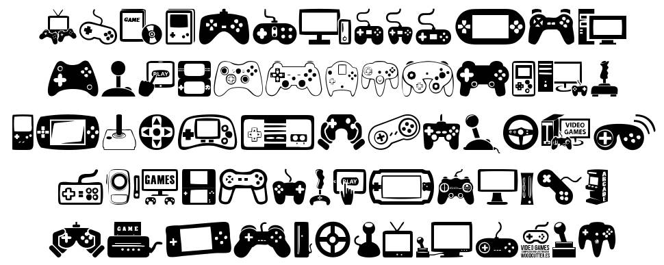 Video Games font