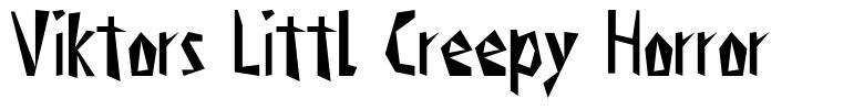 Viktors Littl Creepy Horror font
