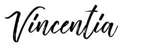 Vincentia шрифт