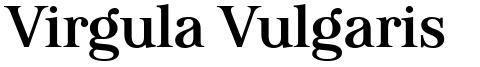 Virgula Vulgaris