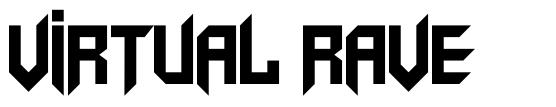 Virtual Rave font