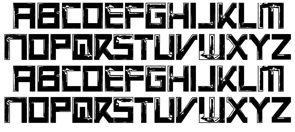 Virtual Rot font