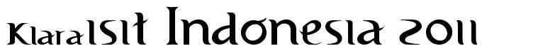 Visit Indonesia 2011 font