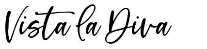 Vista La Diva font