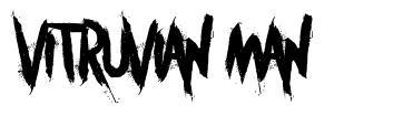 Vitruvian Man font