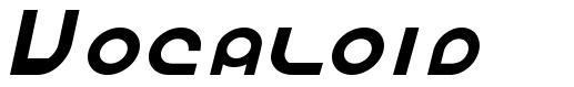 Vocaloid font