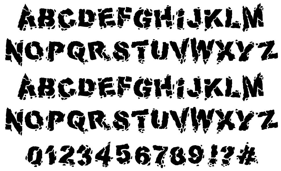 Volcanic Dungeon font