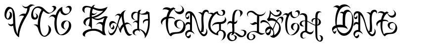 VTC Bad Englisch One font