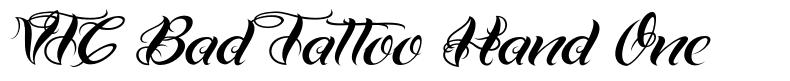 VTC Bad Tattoo Hand One font
