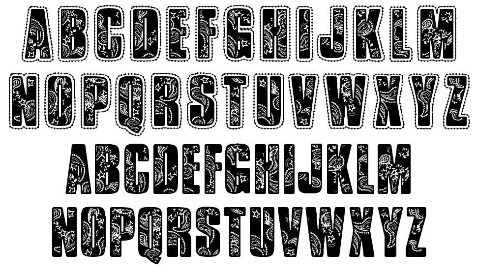 VTKS Bandana font