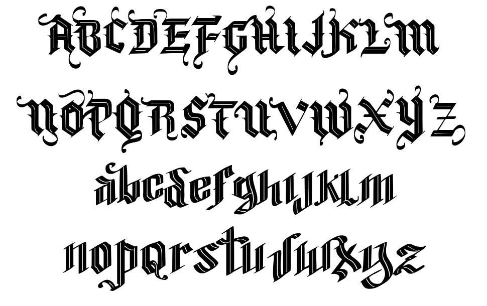 Vtks Blacqui Latter шрифт