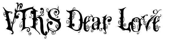 VTKS Dear Love font