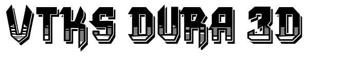 VTKS Dura 3d font