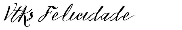 Vtks Felicidade 2016 font
