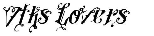 Vtks Lovers шрифт