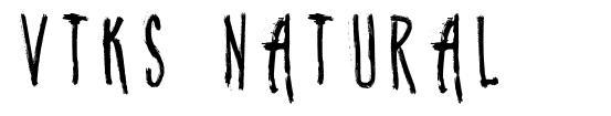 Vtks Natural шрифт