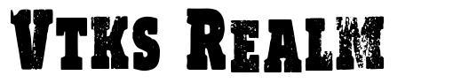 Vtks Realm шрифт